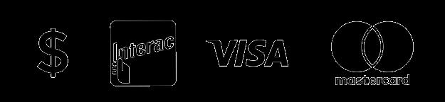 Accept Cash, Interac, Visa, and MasterCard